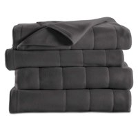 Sunbeam Heated Electric Fleece Blanket with 5 heat settings, Multiple Sizes & Colors Available