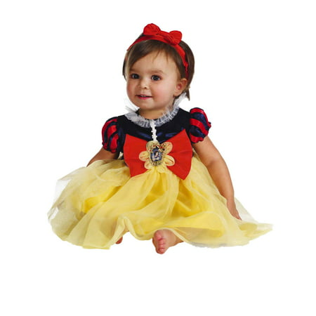 Disney Infant Girls Snow White Costume Baby Dress & Headband - Snow White Costume Infant