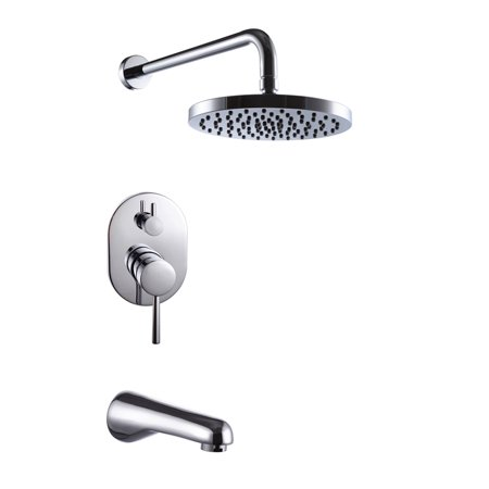 Bathroom Faucet Trim Kit - KES Bathroom Single Handle Shower Faucet Trim Valve Body Tub Spout Complete Kit, Polished Chrome, XB6220