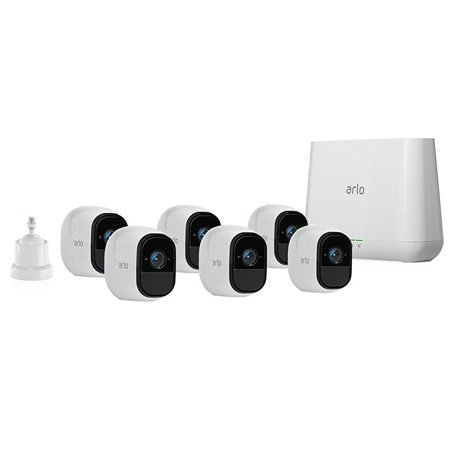 Arlo Pro 720P HD Security Camera System VMS4630 - 6 Wire-Free Rechargeable Battery Cameras with Two-Way Audio, Indoor/Outdoor, Night Vision, Motion Detection (6 Camera Systems)