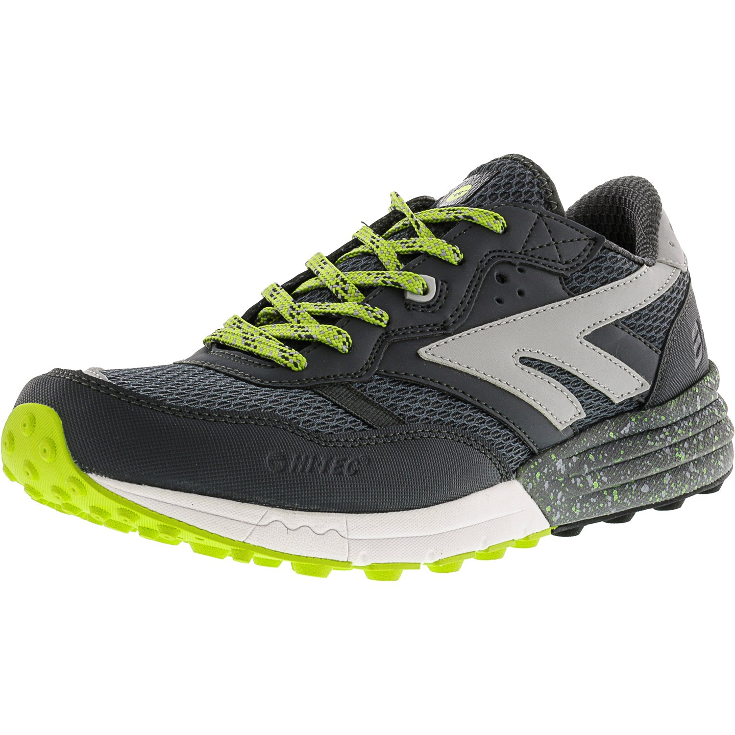 Hi-Tec Men's Badwater Citadel / Limoncello Silver Ankle-High Trail Runner - 9.5M