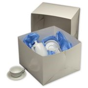 Deluxe Small Business Sales 252-141410C-9 14 x 14 x 10 in. Two-Piece Gift Boxes, White