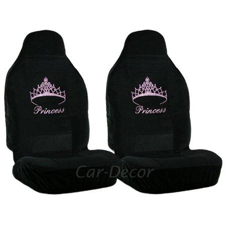 Rhinestone Pink Princess Car Seat Covers 2 Pc