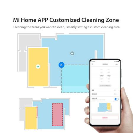 2019 Xiaomi Mijia Roborock T65 Robot Vacuum Cleaner Smart Home Sweeper Dust  Sterilizer 2000Pa Mi Home App Remote Control