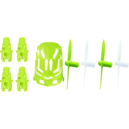 Hubsan Nano Q4 H111  Qty  1  Nano Body Shell H111 01 Green Quadcopter Frame W  Motor Supports  Qty  1  Propeller Blades Lime   White Propellers Props Prop Set Rotor Blade Replacements