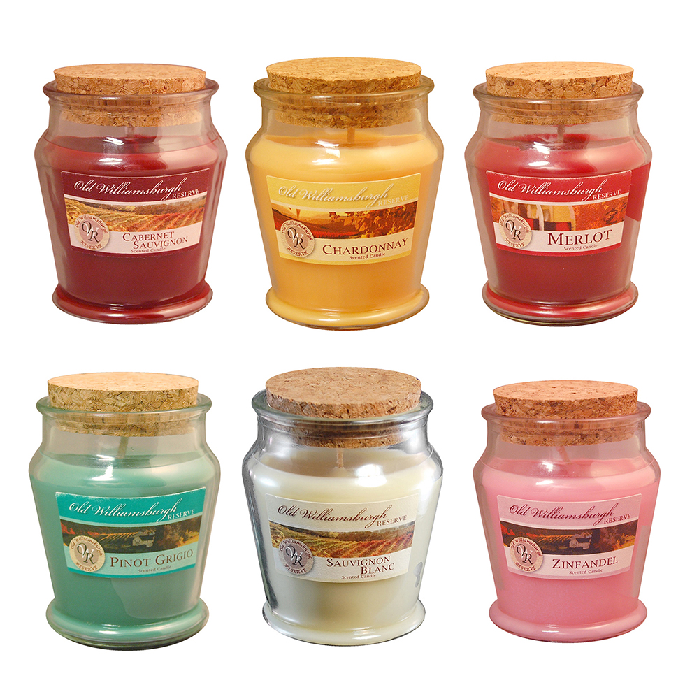 LumaBase Wine Scented Candle Collection in 3oz Jars, 6-Pack