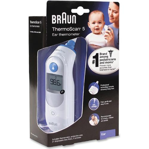 Braun ThermoScan 5 Ear Thermometer 1 ea (Pack of 4)