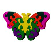 veZve Wooden Jigsaw Puzzle for Toddlers Kids 5 to 7 Years Old Boys Girls Toy, Butterfly