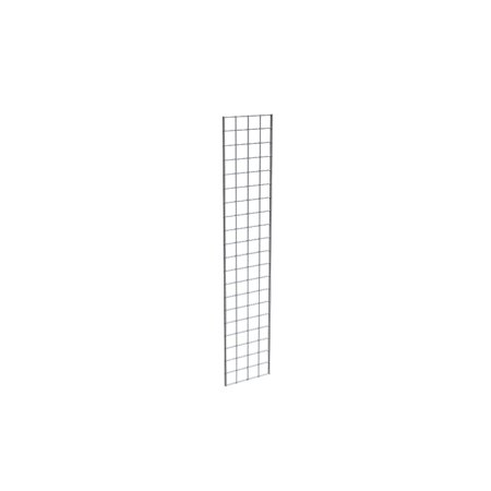 Econoco Chrome Grid Panel for Retail Display or Home Storage, 1' x 5' - 3 Grid Panels Per - Chrome Grid