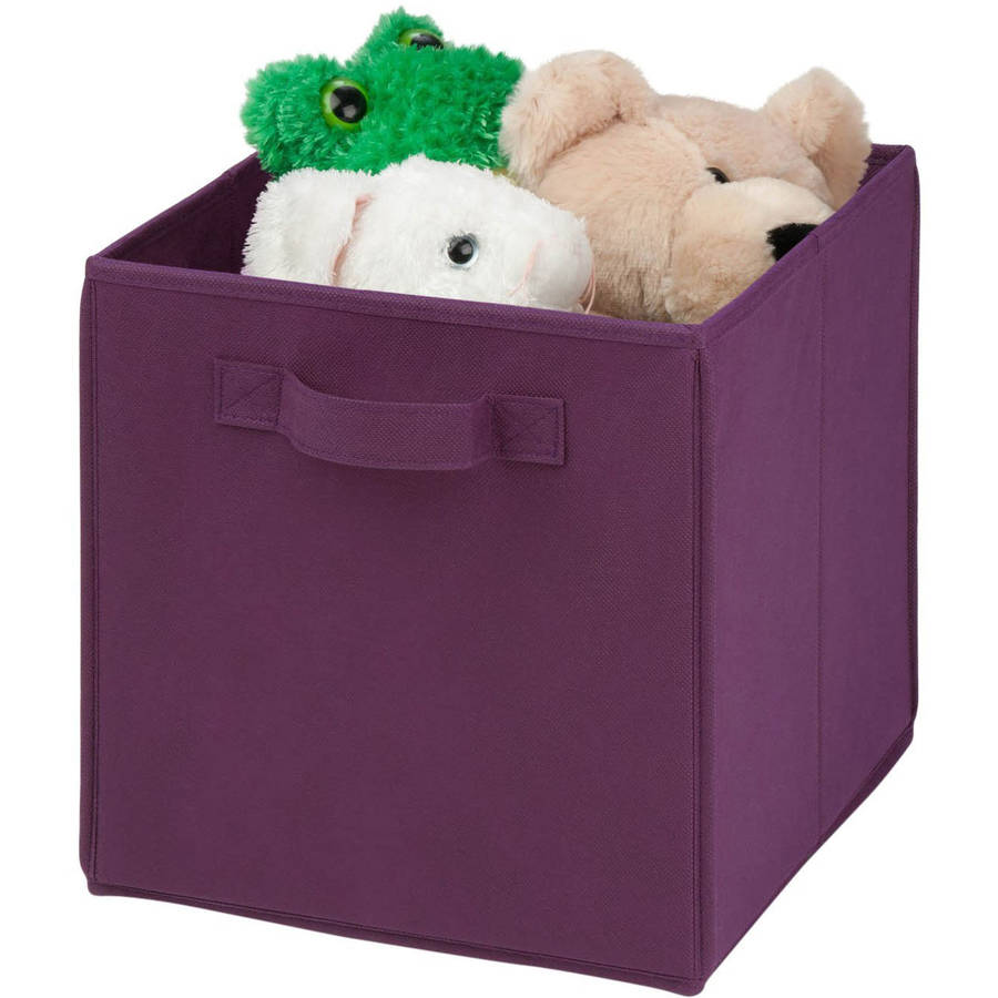 Honey Can Do Non-Woven Foldable Cube with Handles, Multicolor