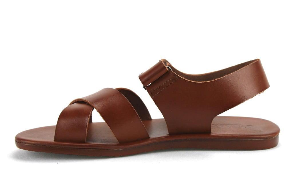 Scandro Men's 52632 Roman Gladiator Leather Strap Sandals Shoes