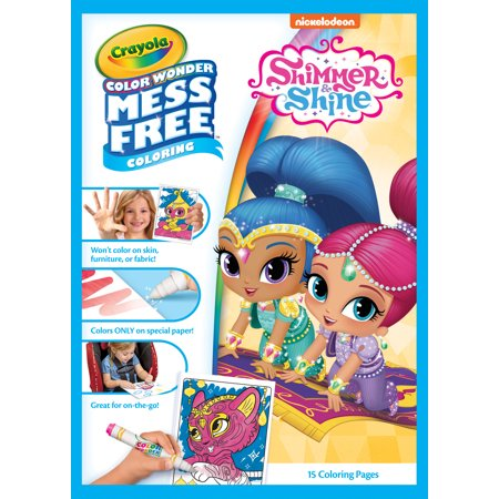 Crayola Shimmer And Shine, Mini Mess-Free Coloring Paper And Markers, Art Tools, Great For Travel
