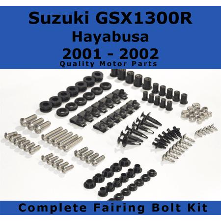 Complete Fairing Bolt Kit for Suzuki Hayabusa GSX1300R 2001 - 2002 body screws fasteners