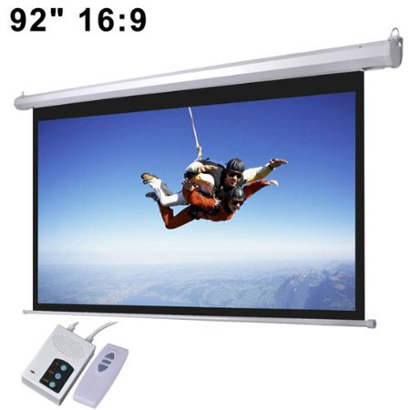 Automatic Electric Projector Screen Wall Mounted 92