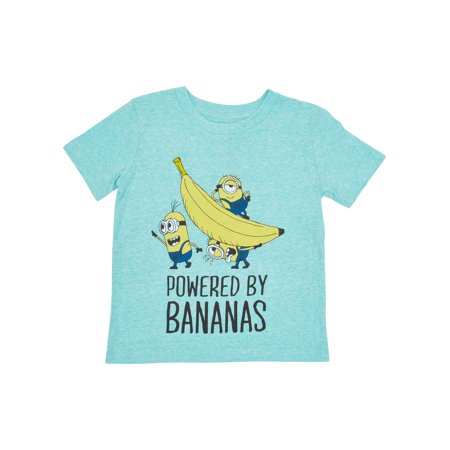 Toddler Boys Minions Powered by Bananas T-Shirt - Minion Shirts Adults