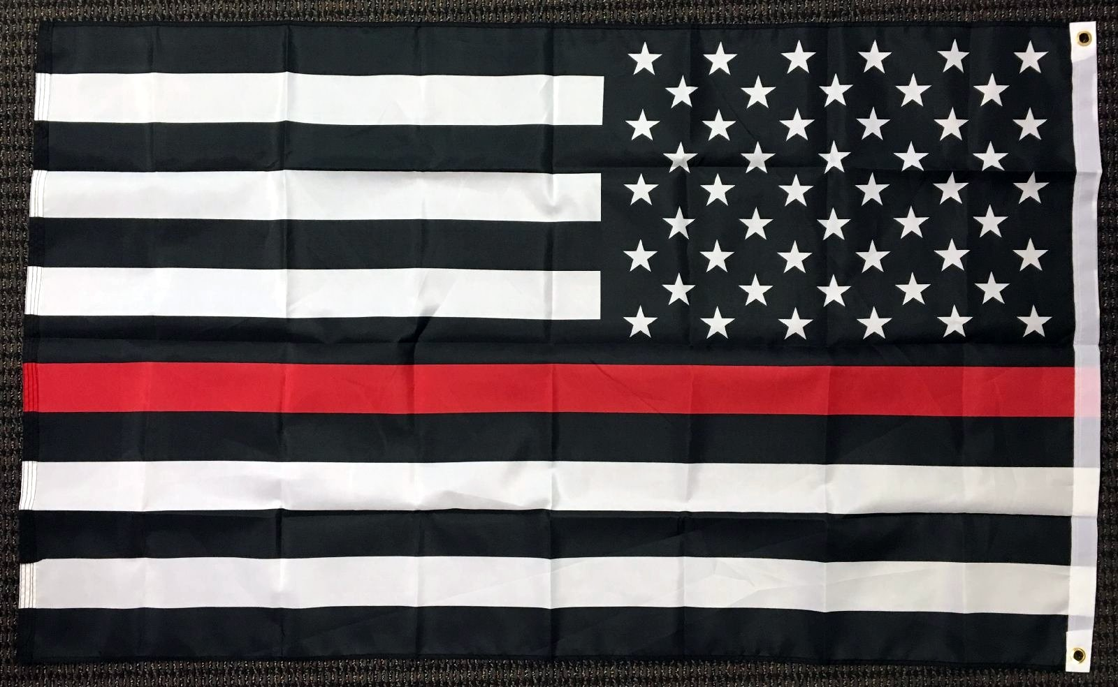 3x5 Thin Red Line Firefighter First Responder Lives Matter on American Flag  USA