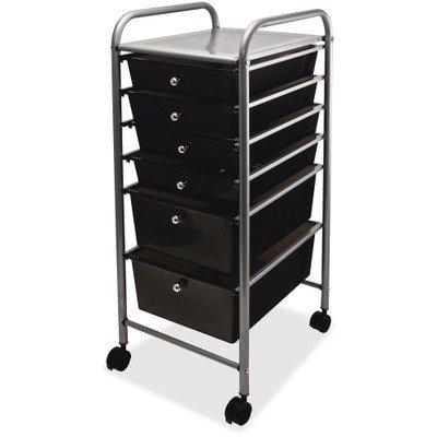 advantus 6 drawer rolling file organizer cart 32 x 13 x 15 4 inches smoke 34005. Black Bedroom Furniture Sets. Home Design Ideas