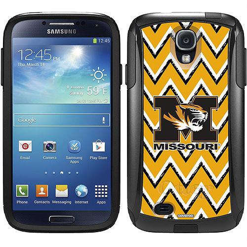 University of Missouri Sketchy Chevron Design on OtterBox Commuter Series Case for Samsung Galaxy S4