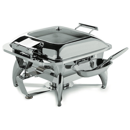 SMART Buffet Ware Square Chafing Dish with Glass Lid and Base