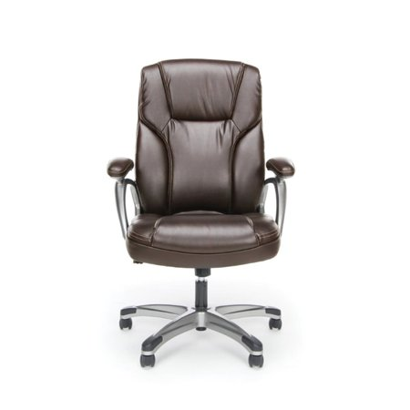 Scranton & Co Ergonomic High Back Leather Office Chair in Brown - image 4 of 5
