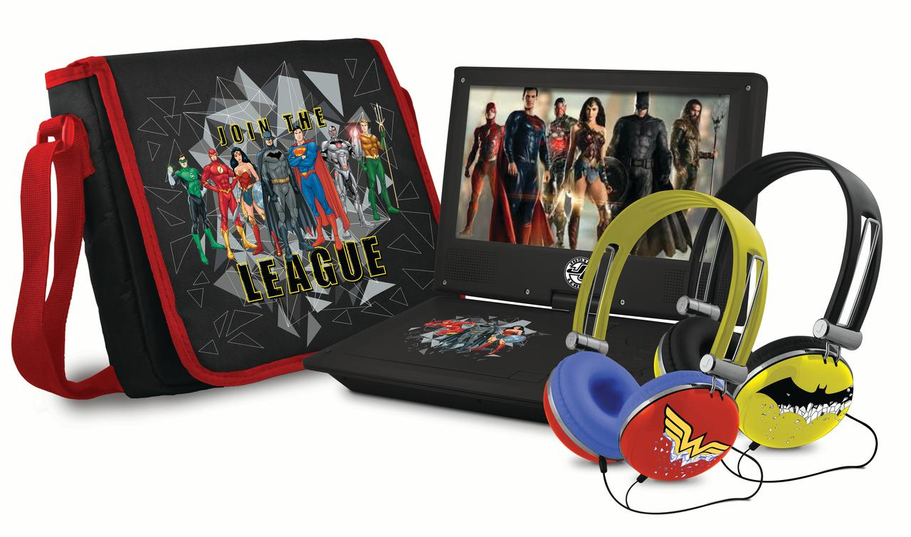 "Ematic Justice League 9"" Portable DVD Player"