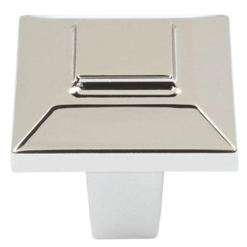 Trocadero 1 in. Polished Nickel Cabinet Knob