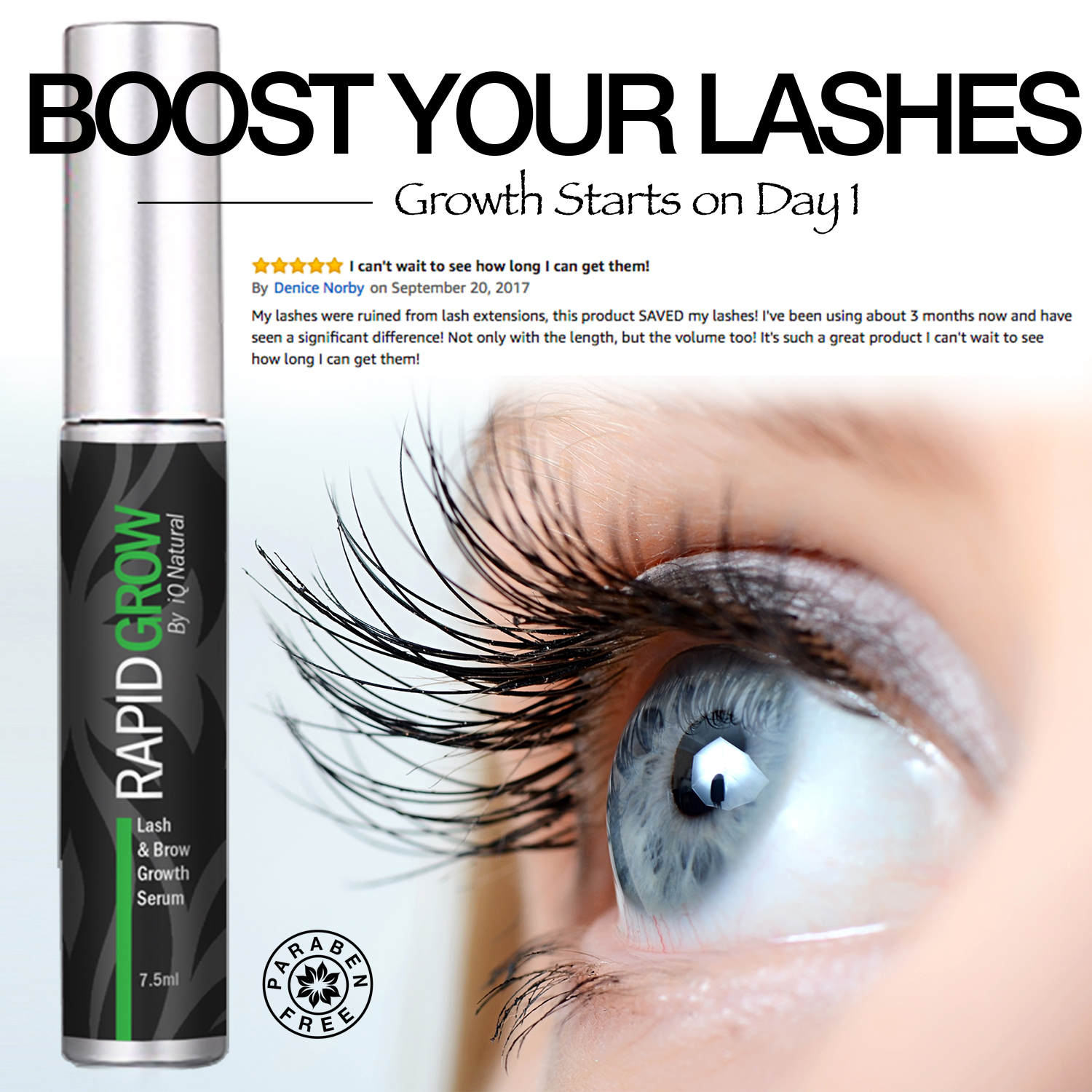 Hair Accelerator Rapid Brows Eye Lash Grow Gel Growth Serum Longer