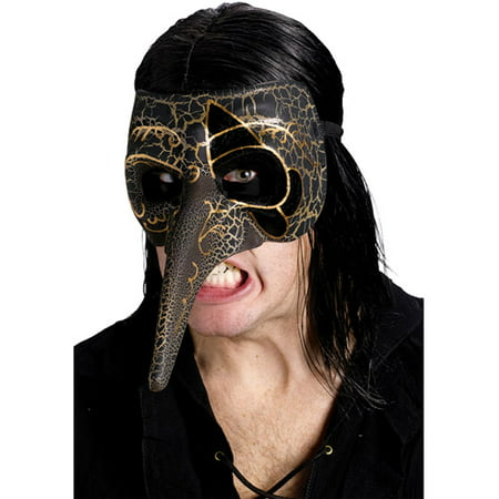 Venetian Raven Mask Adult Halloween Accessory - Raven's Halloween Haven