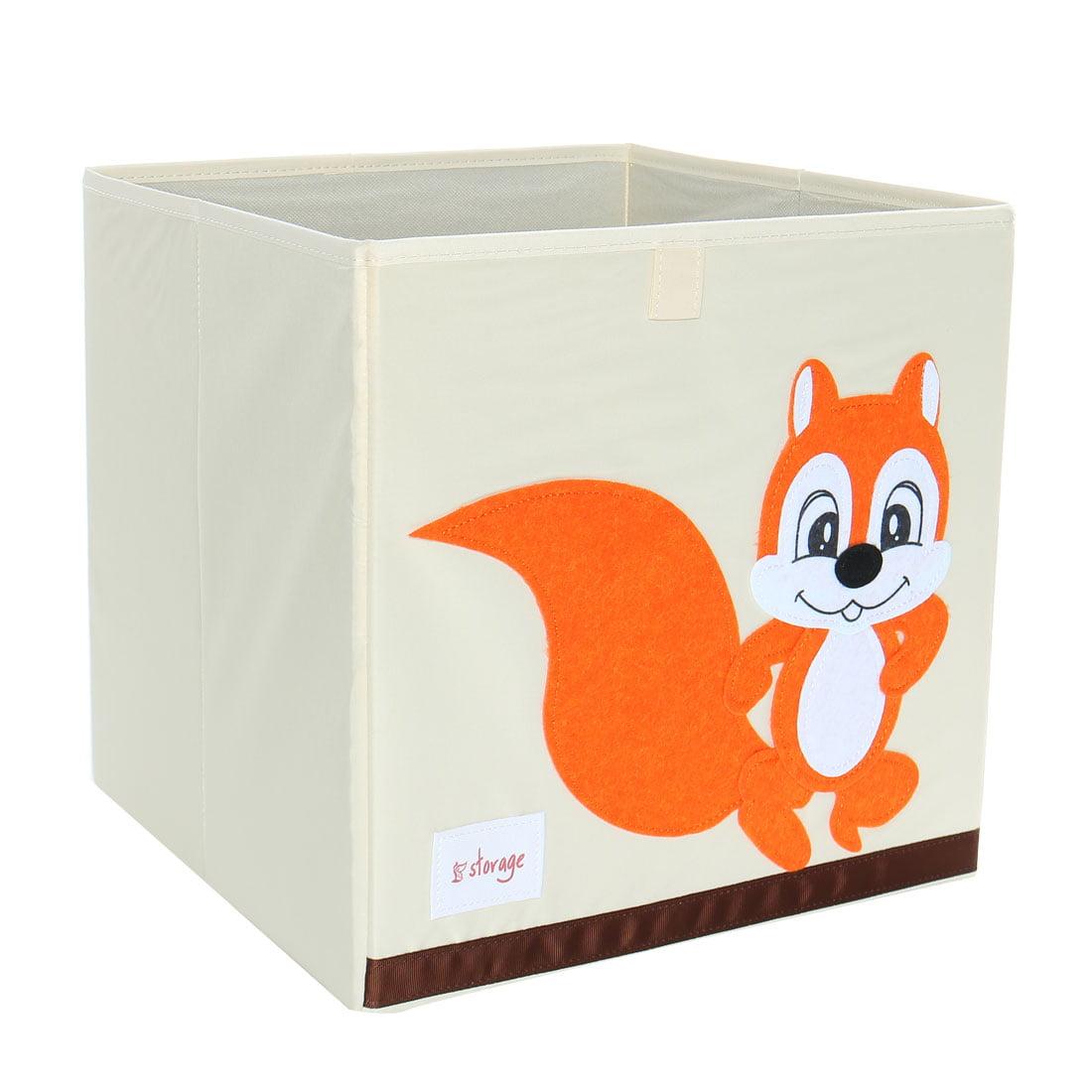 Foldable Toys Storage Bins Cartoon Cardboard Fabric Cubes 13x13x13