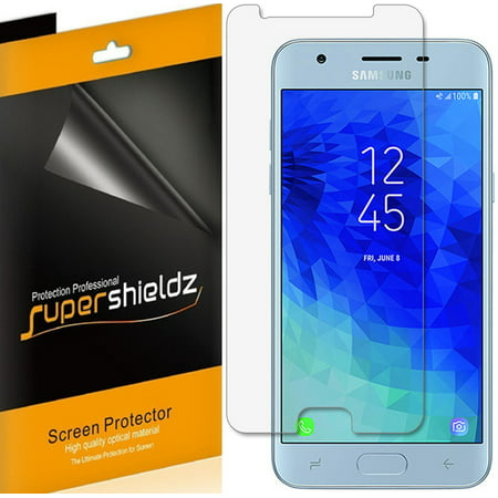 [6-Pack] Supershieldz for Samsung Galaxy J3 (2018) Screen Protector, Anti-Bubble High Definition (HD) Clear (Clear Screen Protector Shield)