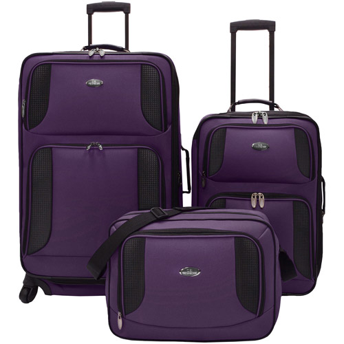 U.S. Traveler Delmont 3-Piece Expandable Luggage Set