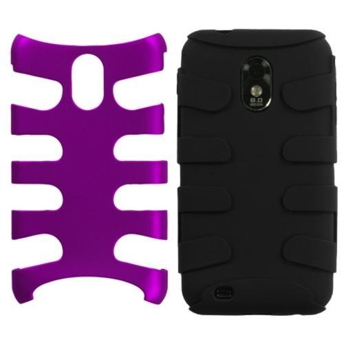 Insten Titanium Purple/Black Fishbone Phone Case for SAMSUNG: D710 (Epic 4G Touch), R760 (Galaxy S II), Galaxy S II 4G