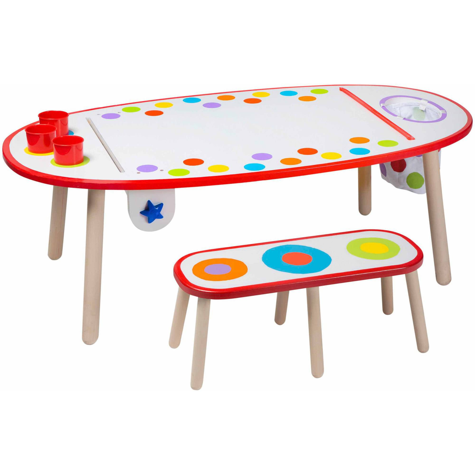 ALEX Toys Artist Studio Super Art Table, Rainbow Dots