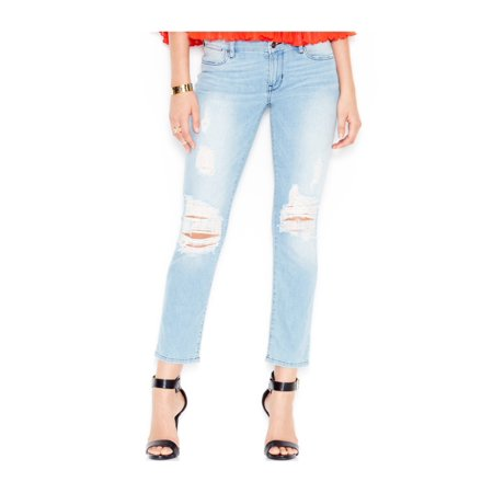 GUESS Womens Ripped Skinny Fit Jeans berrybliss 24x28 - image 1 of 1