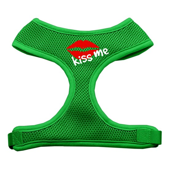 Mirage 70-31 XLEG Kiss Me Soft Mesh Dog Harness Emerald Green Extra Large