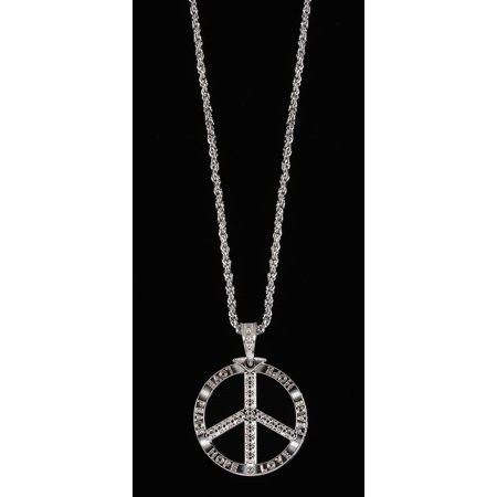 Loftus Yeah Baby Peace Chain Necklace, Silver, One Size (28