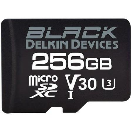 DELKIN DMSDBK256 256GB BLACK UHS-I microSD MEMORY CARD Delkin Sd Pro Card