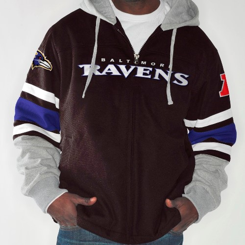 "Baltimore Ravens NFL G-III ""1 on 1"" Jersey Hooded Premium Sweatshirt"