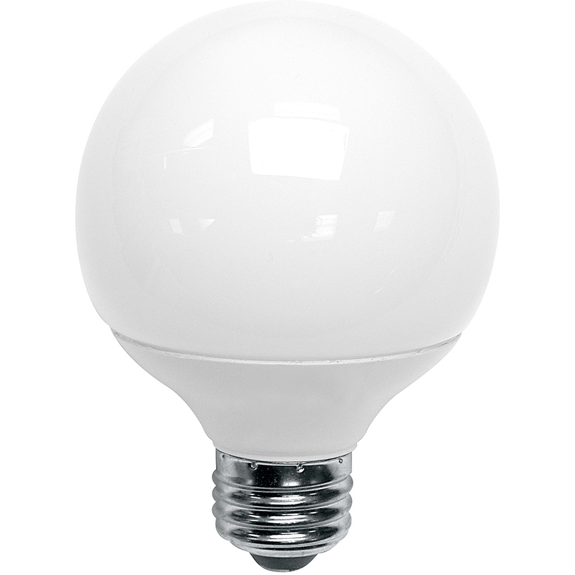 Great Value LED Light Bulb 8W (60W Equivalent) G25 (E26) Dimmable, Daylight  - Walmart.com