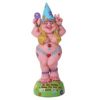 "Pacific Giftware Hippie Lady Gnome ""Flower Child"" Garden Gnome Statue 12H …"