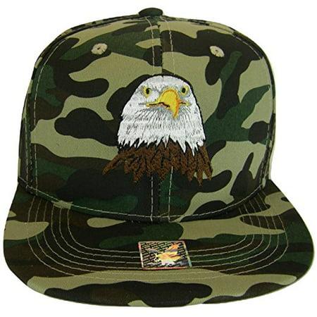 33183e3d166 Joycap - USA Men s Patriotic Eagle Head   Side Flag Adjustable Snapback Baseball  Cap (Military Camo) - Walmart.com