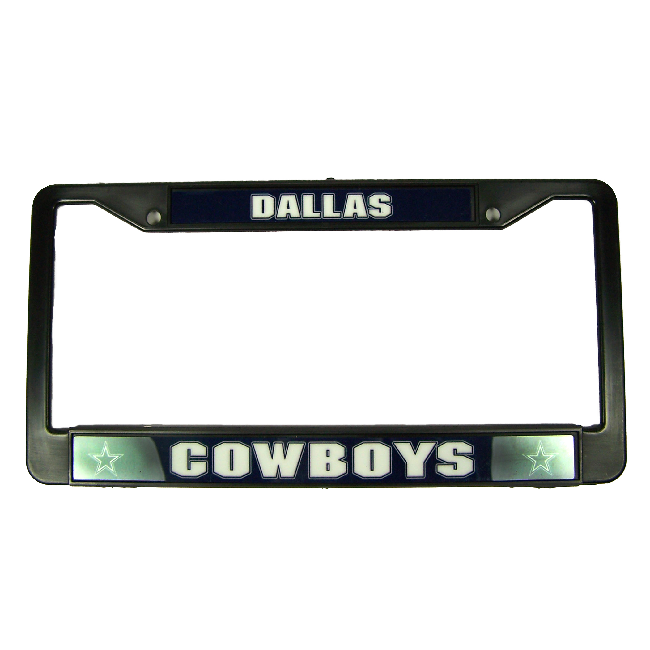 Dallas Cowboys Official NFL 12 inch x 6 inch Black License Plate Frame by Rico Industries