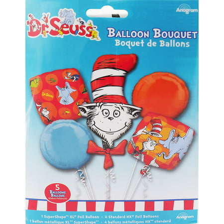 Dr.Seuss Character Authentic Licensed Theme Foil Balloon Bouquet