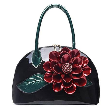Bag Soft Shell - Zzfab Little Shell Flower Bag Black