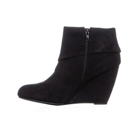 Rebel Senia Zip Up Wedge Ankle Boots, Black - image 4 de 6