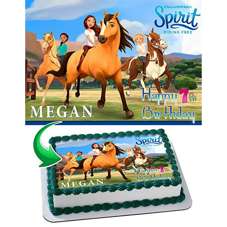 Spirit Stallion of the Cimarron Edible Image Cake Topper Personalized Icing Sugar Paper A4 Sheet Edible Frosting Photo Cake 1/4 Edible Image for cake](Sugar Sheets)