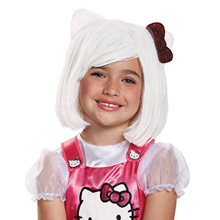 Halloween Kitty Names (UHC Sanrio Hello Kitty Wig w/ Attached Ears Halloween Child Costume)