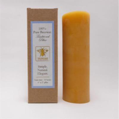 Bee Man Candle - Solid Beeswax Natural Pillar 2 X (Two's Company Halloween Candles)