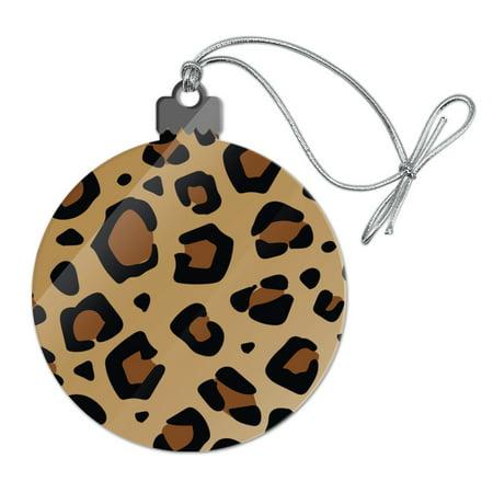 Leopard Print Animal Spots Acrylic Christmas Tree Holiday Ornament ()