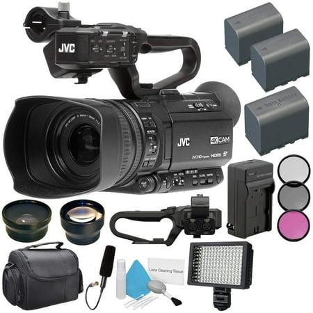 JVC GY:HM180 Ultra HD 4K Camcorder  BNV:F823 Battery   AC/DC Charger   62mm Wide Angle Lens   62mm Filter   JVC QAN0067:003 Microphone Bundle